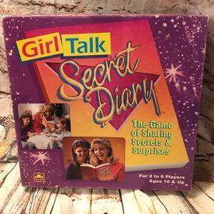 1991 Girl Talk Secret Diary Board Game